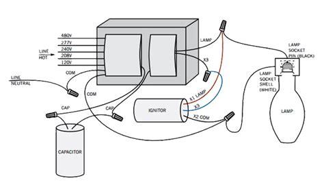 wiring diagram for 1000w metal halide ballast image