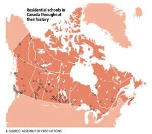 map of residential schools in canada edmonton urbanism headlines march 24 30 spacing edmonton