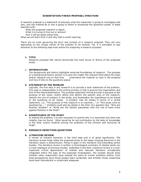 the format of thesis proposal hydrochloric acid and