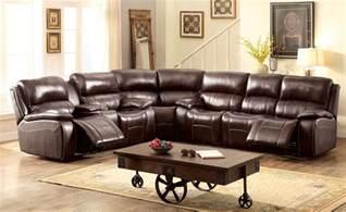 Top Grain Leather Sectional Sofa Seth Transitional Brown Reclining Sectional Sofa In Top Grain Leather