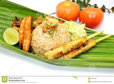 nasi goreng satay lilit stock photo image