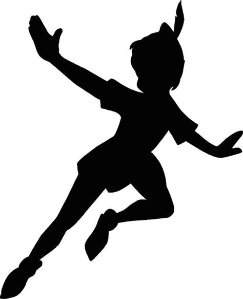 peter pan flying silhouette 12 25x15 vinyl decal wall art
