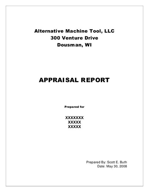 Appraisal Cover Letter Exles Sle Machinery Appraisal