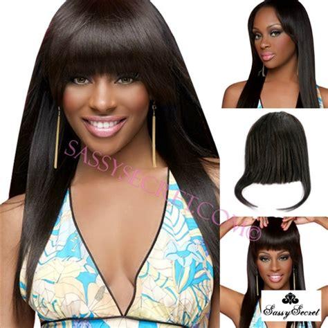 black clip on bangs light yaki african american clip in bangs fringe for