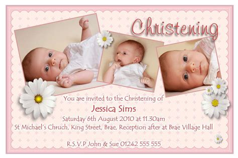 layout design for baptismal invitation christening invitation for baby girl christening
