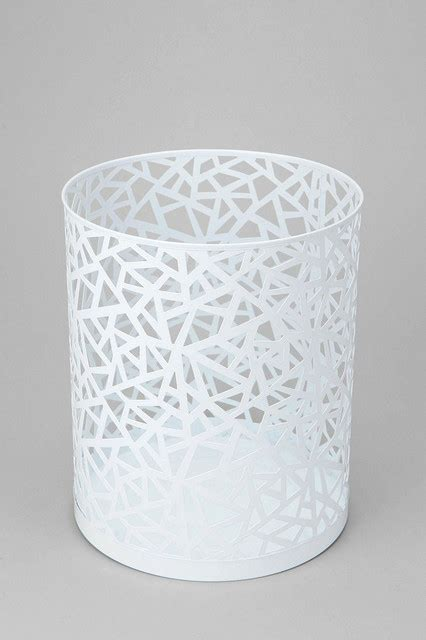 bedroom wastebasket geo cutout trash can modern wastebaskets by urban