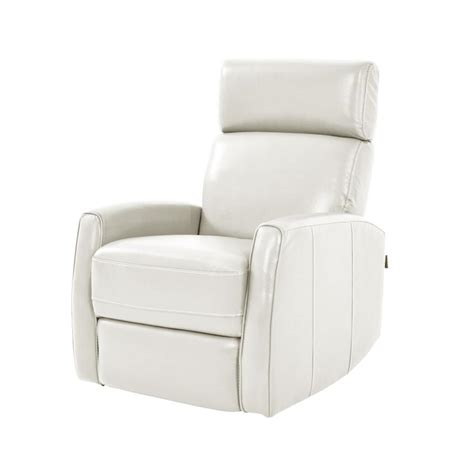 White Leather Recliners by Lucca White Power Motion Leather Recliner El Dorado Furniture