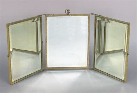 Vanity Folding Mirror by Folding Triptych Vanity Mirror 1532017