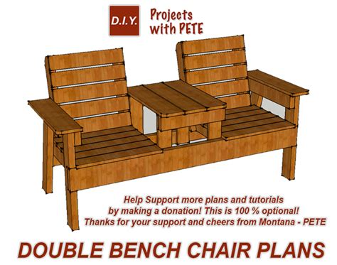 build  double chair bench   cooler total