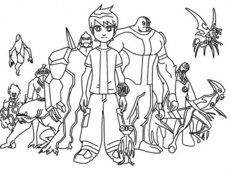 ben 10 coloring book coloring book for and adults 45 illustrations books get this ben 10 coloring pages jzj9z