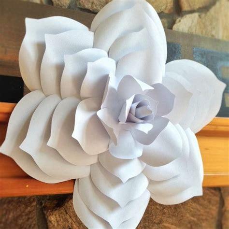 big paper flower pattern paper flower template diy paper flower paper flower