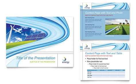 Renewable Energy Consulting Powerpoint Presentation Template Design Consulting Presentation Templates