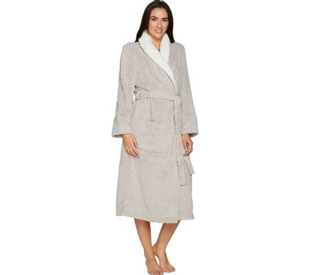 casa zeta jones robe casa zeta jones velvet soft medallion robe with faux fur