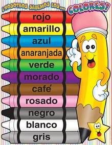 color in spanish colors spanish charts school ambientaci 243 n del sal 243 n