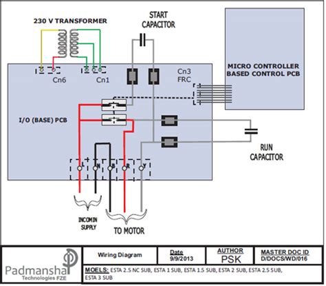 submersible motor starter wiring diagram wiring diagram