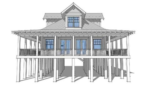 2 story beach house plans beach style house plans 1527 square foot home 2 story