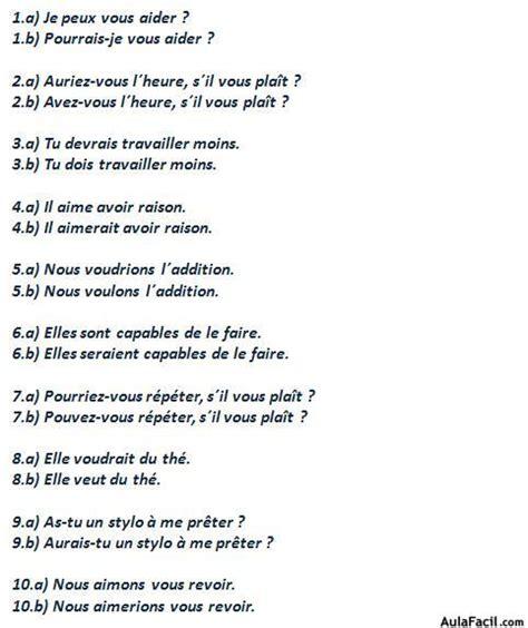 ejercicios de francs para curso gratis de franc 233 s elemental ejercicios le conditionnel aulafacil com los mejores