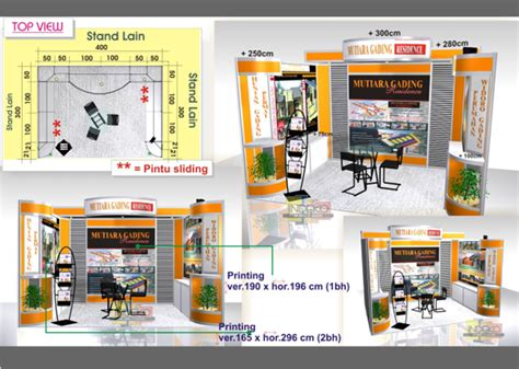 contoh layout booth pameran mengenal booth exhibition yang menambah semarak pameran