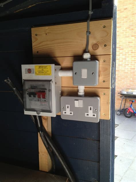 remove mains connection  garden shed electrical job