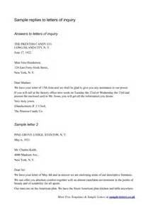 Enquiry Letter Template Best Photos Of Example Of A Response Letter Job Response