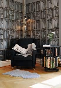Fake Bookcase Wallpaper Fake Bookshelf Wallpaper Idesignarch Interior Design