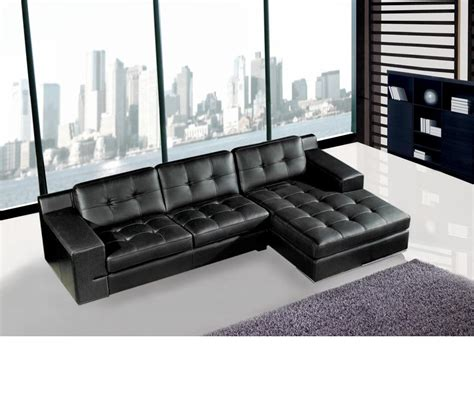 modern black leather sectional sofa dreamfurniture jade modern black leather sectional sofa