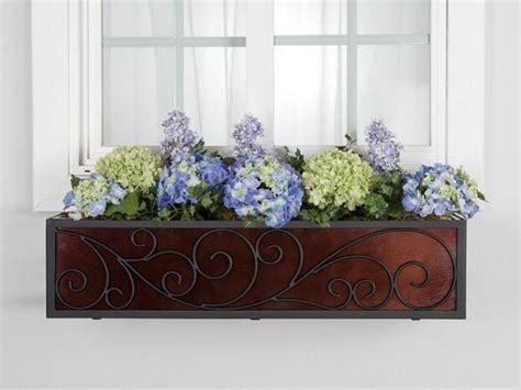 wrought iron window box cages the wisteria window box cage square design wrought