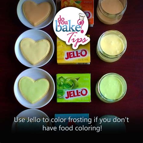 food coloring for frosting jello to color frosting do you bake
