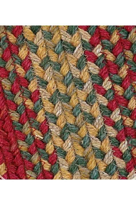 cider barn red jute braided rug cottage home