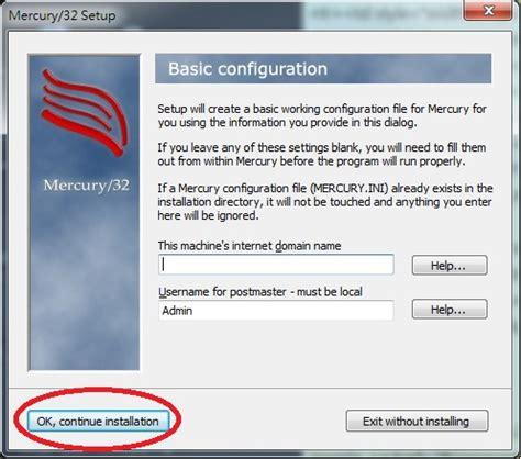configure xp mercury mail install mercury mail transport program