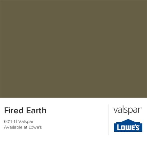 valspar paint color chip fired earth color cobinations pinter