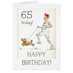 65th birthday card for a retired zazzle