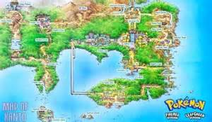 Kanto World Map by Pok 201 Mon Parallels Kanto Pok 233 Mon Amino