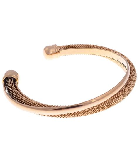 The Jewelbox Mens Gold Mesh Cuff Kada Bracelet Bangle: Buy Online at Low Price in India   Snapdeal