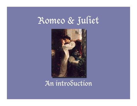 romeo and juliet powerpoint template romeo and juliet introduction