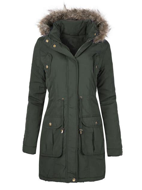 Jaket Winter Winter Coat Jaket Parka 24 womens winter faux fur hooded parka quilted jacket coat plus sizes 8 24 ebay