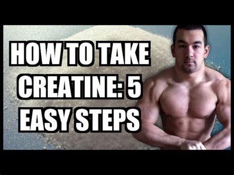 creatine transformation how to take creatine 5 easy steps