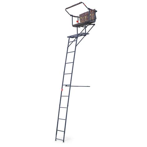 12 foot tree stand guide gear 174 deluxe 16 2 ladder tree stand 220580