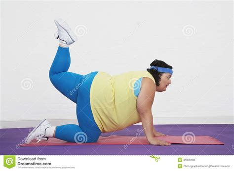 Create Floor Plans Online Free Overweight Woman Doing Aerobic Stretches Royalty Free