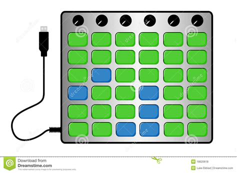 grid layout animation controller exle grid midi controller royalty free stock photos image