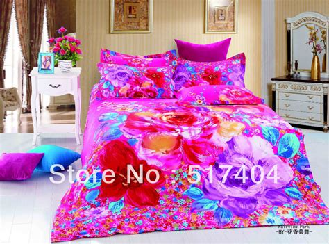 Bright Colored Bedding Sets New 4pc Bedding Duvet Cover Bright Colored Comforter Sets Feeling Flowers Bed Sheet 500tc