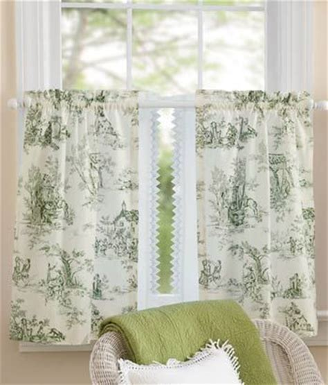 toile kitchen curtains lenoxdale toile tier curtains window treatments pinterest