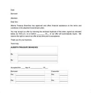 Letter Of Commitment Template by Sle Mortgage Commitment Letter 6 Free Documents In