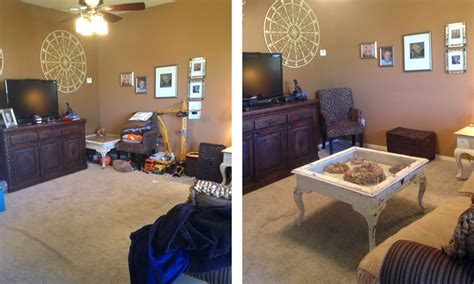 declutter living room declutter living room before and after living room