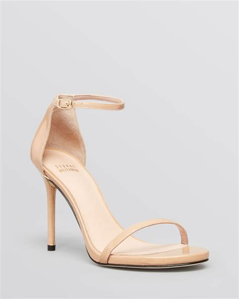 open high heels lyst stuart weitzman open toe evening sandals