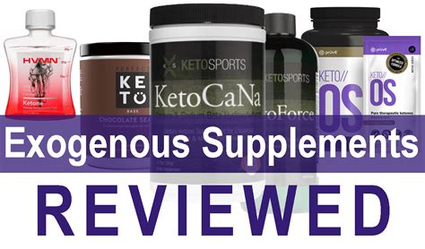 supplement ketones exogenous ketone supplements review of current products