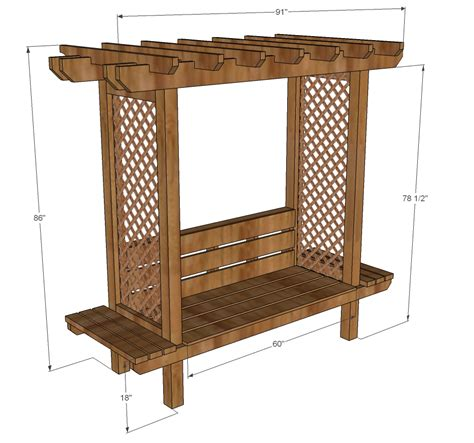 Arbor Bench Plans by Ana White Outdoor Bench With Arbor Diy Projects