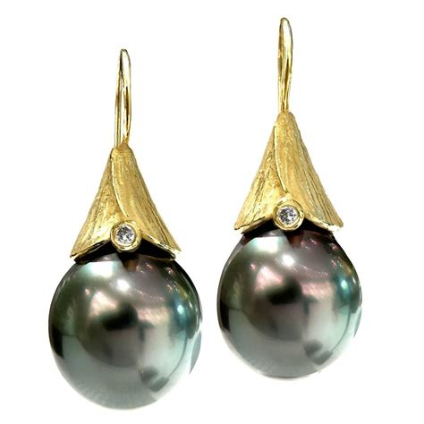 Handmade Artisan Earrings - 2016 barbara heinrich tahitian pearl handmade
