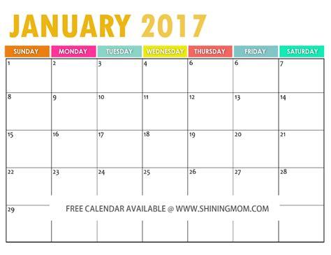printable calendar mom the free printable 2017 calendar by free printable free