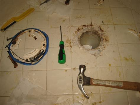 broken plastic toilet flange replacement guide 013